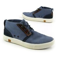 Timberland Amherst Canvas Chukka Sneaker Shoes Boots Womens US 9.5 EU 41 Blue