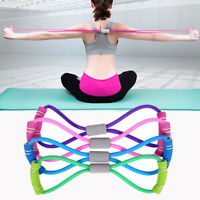 Latex Rubber Arm Resistance Stretch Band Rope Fitness Exercise Gym Pilates Yoga