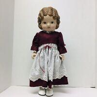 Daisy Kingdom Pansy Doll 1991 Brown Hair/Eyes 18 Inches Burgundy Dress