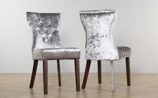 2 4 6 8 Bewley Silver Velvet Dining Room Chairs Dark Leg