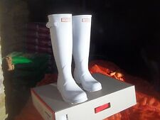 HUNTER WELLINGTONS IN HALIFAX & BRADFORD  WHITE  ORIGINAL LADIES TALL SIZE 6