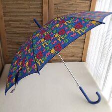 Fabulous RARE Vintage 80s KEN DONE 'Downunder' PRINT Colourful NYLON Umbrella