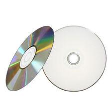 100 52X White Inkjet HUB Printable CD-R CDR Blank Disc Media 700MB
