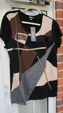 Maglie e camicie da donna neri manica corti seta