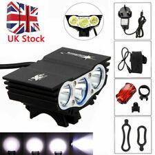 15000LM XML T6 X3 LED Mountain Bike Front Light Solar Storm Bike Head Light Set~