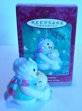 """2000 Hallmark Keepsake Ornament """"Warm Kindness"""" Snow People Hugs"""
