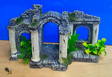 Aquarium Ornament Roman Ruin Columns Plants Ancient Fish Tank Decoration