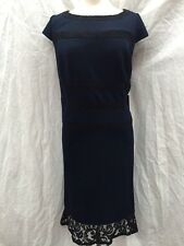 adrianna papell DRESS/LINED/NEW WITH TAG/RETAL$169/SIZE 22w/NAVY/KNEE LENGTH