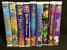 Lot of 9 Childrens VHS Clamshell classic Movies Disney Fox Video WB Tapes