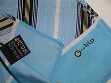 ..htp sciarpa vintage uomo 100% pura seta azzurro - web internet pc nb tablet