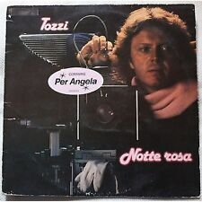 UMBERTO TOZZI - Notte rosa - LP VINYL HOLLAND 1981 VG+ COVER VG- CONDITION
