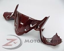 Ducati 899 1199 Upper Nose Headlight Dash Cover Panel Fairing Carbon Fiber Red