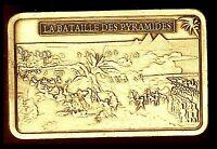 ★ MAGNIFIQUE LINGOT PLAQUE BRONZE ● NAPOLEON ● LA BATAILLE DES PYRAMIDES ★★