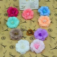 10pcs/lot 5.5cm Stamen Silk Plum Blossom Artificial Flower Head For Wedding