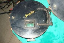 Antique Simplex Movie Projector Canisters 1930's - 2 Canisters - Matching Set