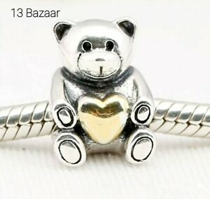 Pandora Sterling Silver Charm Love Teddy Genuine S925 ALE With Pouch UK Fast P&P