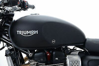 R&G Tank Traction Grips for Triumph Street Twin '16-  *CLEAR*