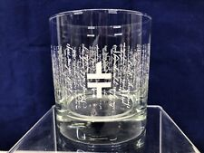 Slovenia 10 Oz Rocks Glass Script Writing White Logo Replacement Barware EUC