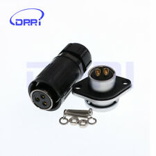 HE20 IP67 3 Pin LED power cable connector Plug and Socket