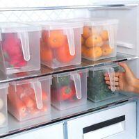 KE_ Transparent Fridge Storage Box Crisper Refrigerator Sealed Food Container