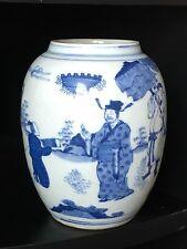 "Chinese Blue and white Porcelain vase or pen holder 5.5""H"
