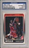 1988 Fleer Horace Grant Signed Card #16 PSA/DNA Auto Chicago Bulls