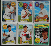2018 Topps Heritage Minor League Pittsburgh Pirates Team Set of 6 Baseball Cards