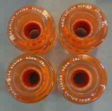 Moxi Gummy Quad Roller Skate Outdoor Wheels Clementine Orange (Set of 4- 1 blem)