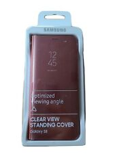 Samsung Galaxy S8 Standing Cover Pink (clear view case)