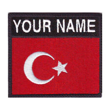TURKEY BADGE CUSTOM FLAG EMBROIDERED SEW ON PATCH