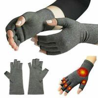 Anti Arthritis Copper Gloves Compression Fingerless Support Joint Pain Relief #C