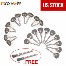22pcs Mini Grinding Wire Brush Steel Wire Abrasive Wheel for Dremel Rotary Tool