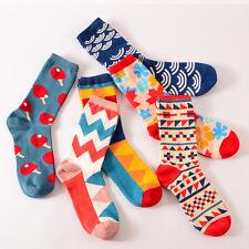 Mode Socks Bunte Lustige Baumwollsocken Damen & Herren Strümpfe frech gemustert