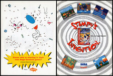 REN & STIMPY: Stimpy's Invention__Original 1994 print AD_game promo__NICKELODEON