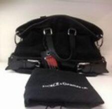 Dolce & Gabbana Miss Loop Suede Bowler Bag-Black