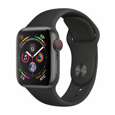 Apple Watch Series 4 40 mm Space Grey Aluminum Case with Black Sport Band (GPS + Cellular) - (MTVD2X/A)