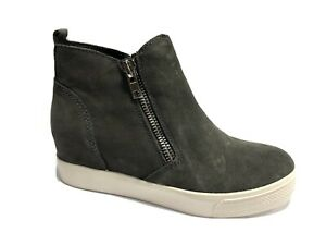 Steve Madden, Wedgie Grey Suede Hidden Wedge Boots, Women's Size 8.5M