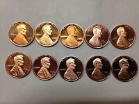 1980-1989 Proof Lincoln Cents 10 Coins in All