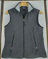 PATAGONIA SYNCHILLA Size Medium Made in USA Womens Charcoal Fleece Vest Full Zip