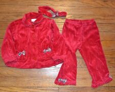 3 Piece Holiday Velour Set Outfit size 18 months by Savannah