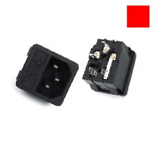 AC250V 10A SP-861 IEC320 C14 AC Input Wiring Socket Male 3Pin w FUSE