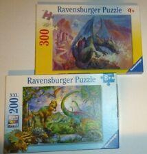 Ravensburger Dinosaurs Jigsaw Puzzles Lot of 2 300 200 Piece 8+