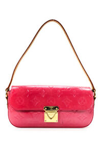 Louis Vuitton Womens Monogram Vernis Small Satchel Handbag Pink
