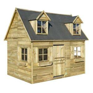 CHILDRENS PLAYHOUSE GARDEN COTTAGE BUNK WENDY HOUSE DEN 2 STOREY LADDER WOODEN