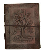 Tree of Life Handmade Leather Journal Blank Paper Diary Sketchbook Notebook L444