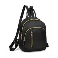 Women's Small Backpack Travel Nylon Handbag Shoulder Bag Black Fashion Gifts NEW