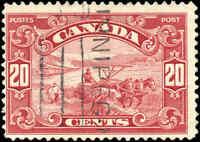 1929 Used Canada 20c F Scott #157 King George V Scroll Issue