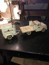 Antique Tonka Farms Truck And Horse Trailer 1959 Vintage Tonka Toys Truck