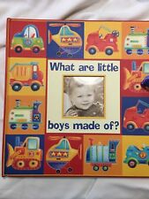 """New Seasons  Memory  book """"What Are Little Boys Made Of"""" NWOT"""