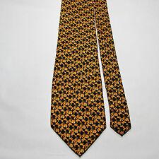 Addiction GARFIELD 100% Polyester Tie Black Orange